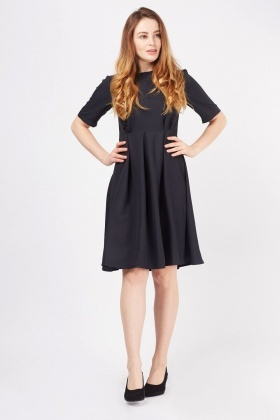 Box Pleated Tea Dress