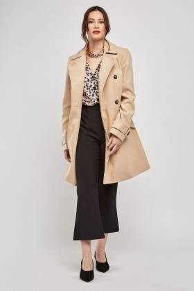 Button Front Pea Coat