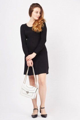Panel Front Knitted Dress