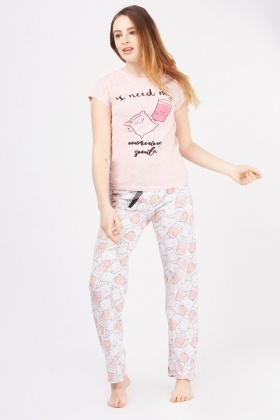 Pillow Print Pyjama Set