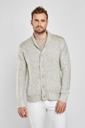 Button Up Chunky Knit Cardigan