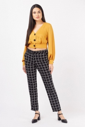 Scattered Window-Pane Cigarette Trousers