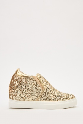 Glitter High Top Trainers