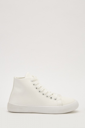 High Top Lace Up Trainers