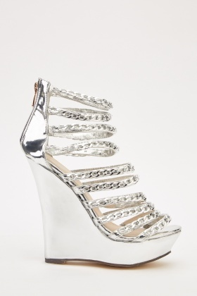 Metallic Wedge Heels