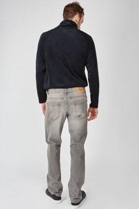 Dark Grey Regular Fit Jeans