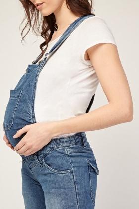 Maternity Wear Denim Dungarees Just 7