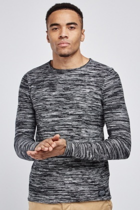 Speckled Round Neck T-Shirt