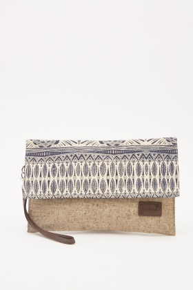 Ethnic Printed Flap Clutch