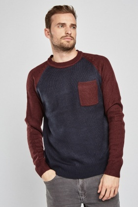 Open Front Pocket Knit Jumper