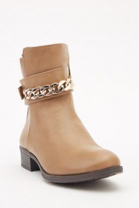 62035c88365 Chain Detailed Ankle Boots
