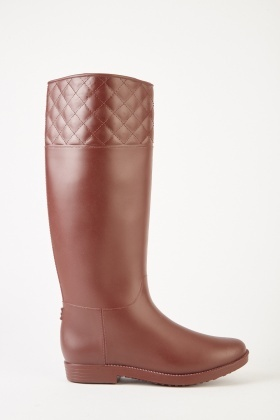Diamond Stitched Lined Wellies