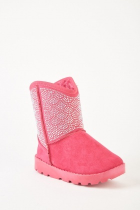 Embellished Kids Winter Boots