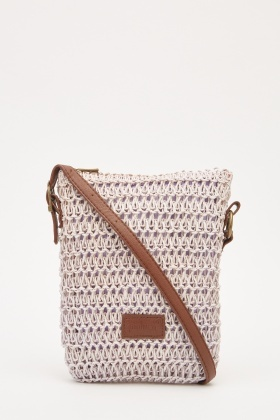 Twine Textured Mini Shoulder Bag