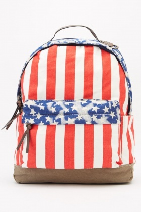 American Printed Backpack