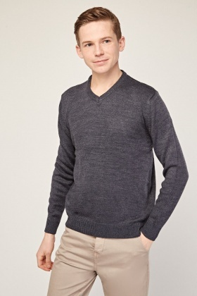V-Neck Speckled Knit Jumper