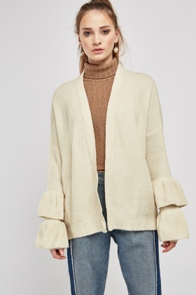 Layered Sleeve Slouchy Cardigan
