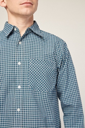 Casual Long Sleeve Checked Shirt