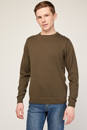Crew Neck Thin Knit Sweater