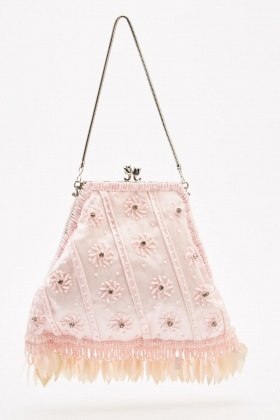Embellished Mini Clip Bag