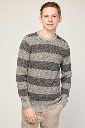 Striped Speckled Knit Jumper