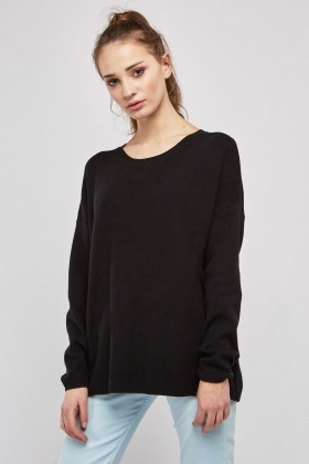 Tie Up Open Back Knit Jumper
