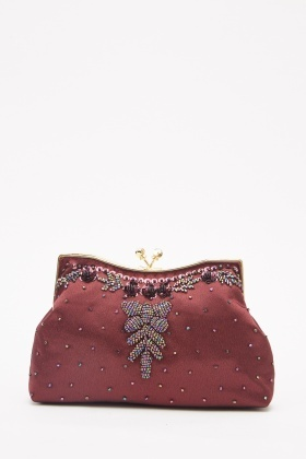 Embellished Mini Frame Bag