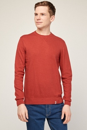 Crew Neck Maroon Knit Jumper