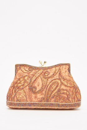 Embellished Paisley Pattern Bag