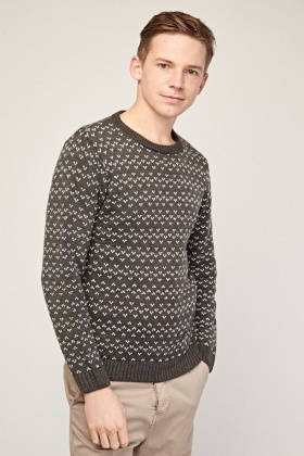 Feather Embroidered Stitch Jumper
