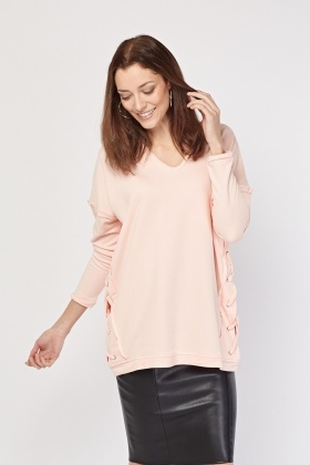 Lace Up Side Oversized Jumper