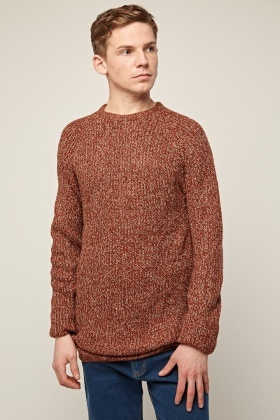 Speckled Chunky Knit Jumper