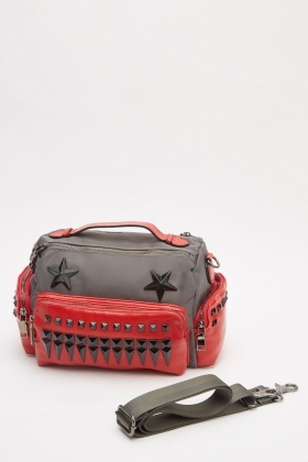 Studded Trim Duffel Bag