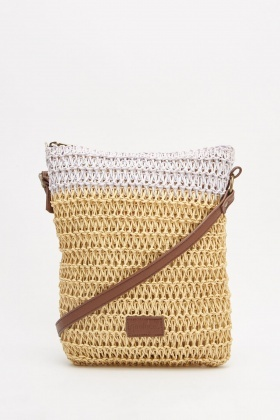 Two Tone Twine Crossbody Bag