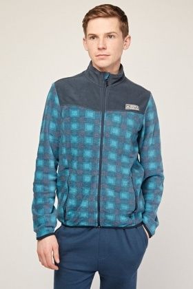 Checkered Poly-Fleece Jacket