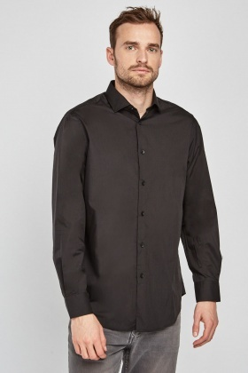 Regular Fit Black Shirt
