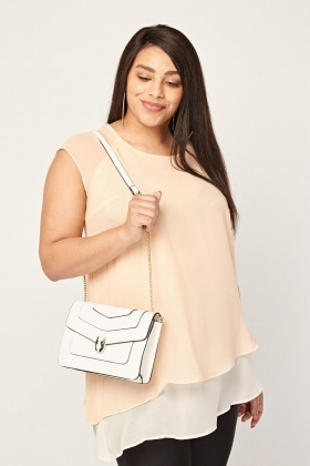 Sheer Two Tone Shell Top