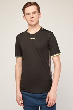 Colour Block Contrast Sports T-Shirt