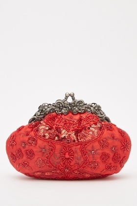 Heavily Embellished Clutch Bag
