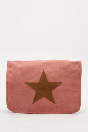 Star Printed Messenger Bag