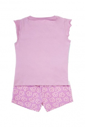 Logo Front Top And Shorts Set