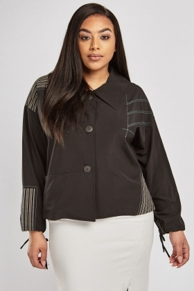 Striped Contrast Panel Light Jacket