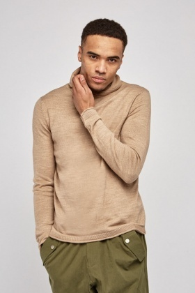 Cowl Neck Fine Knit Jumper