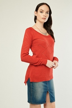 Laser Cut Knitted Jumper
