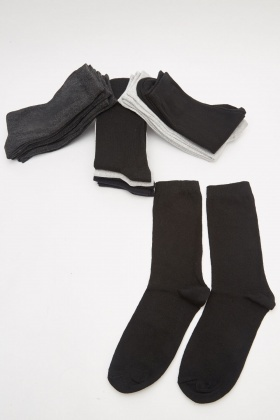 Pack Of 12 Men's Socks
