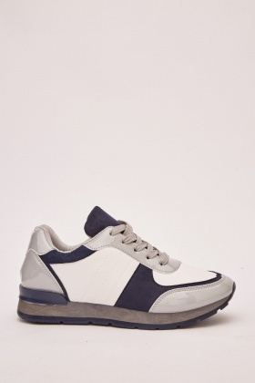 Contrasted Colour Block Trainers