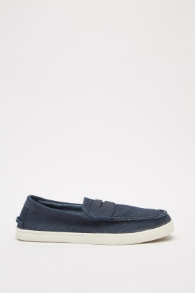 Mens Denim Style Loafers