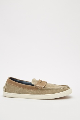 Mens Textured Loafers