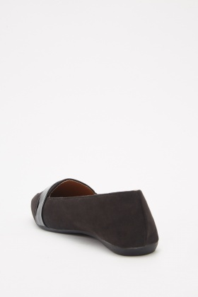 Suedette Slip On Loafers