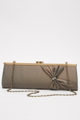 Two Tone Sateen Clutch Bag